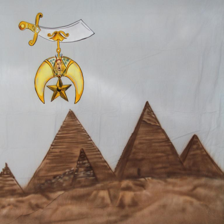 10' x 20' Shriner Pyramids Computer Printed Backdrop