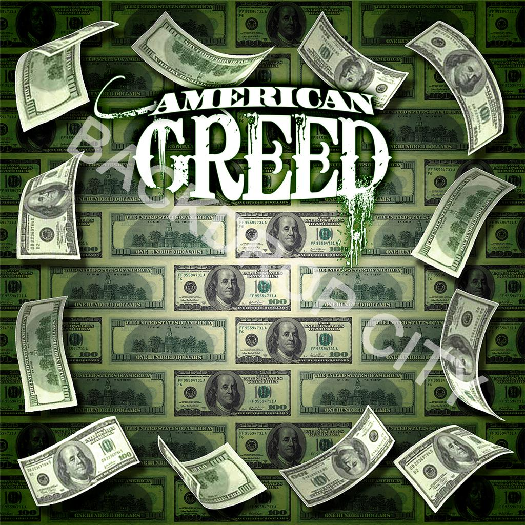 10'x10' American Greed Computer Printed Backdrop and Digital Image