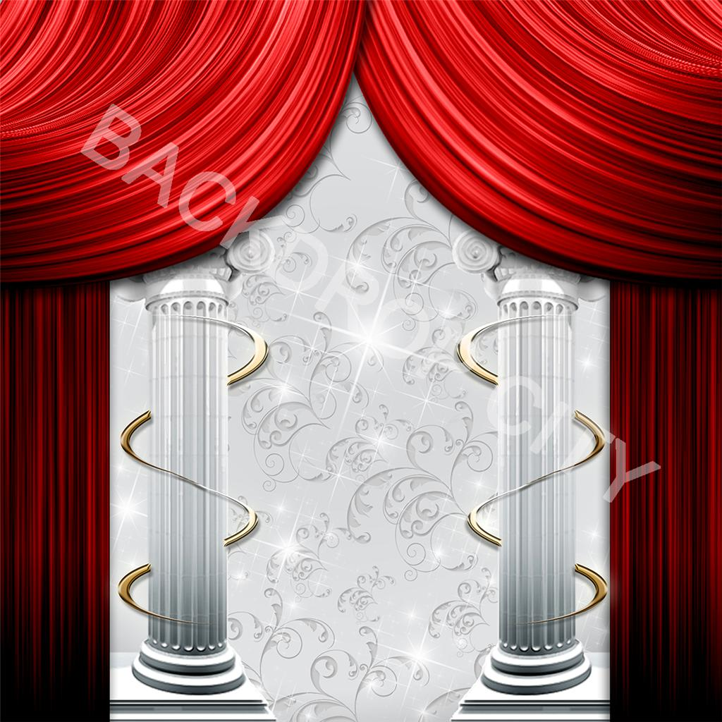 Curtains-Columns-Printed Backdrop and Digital Image