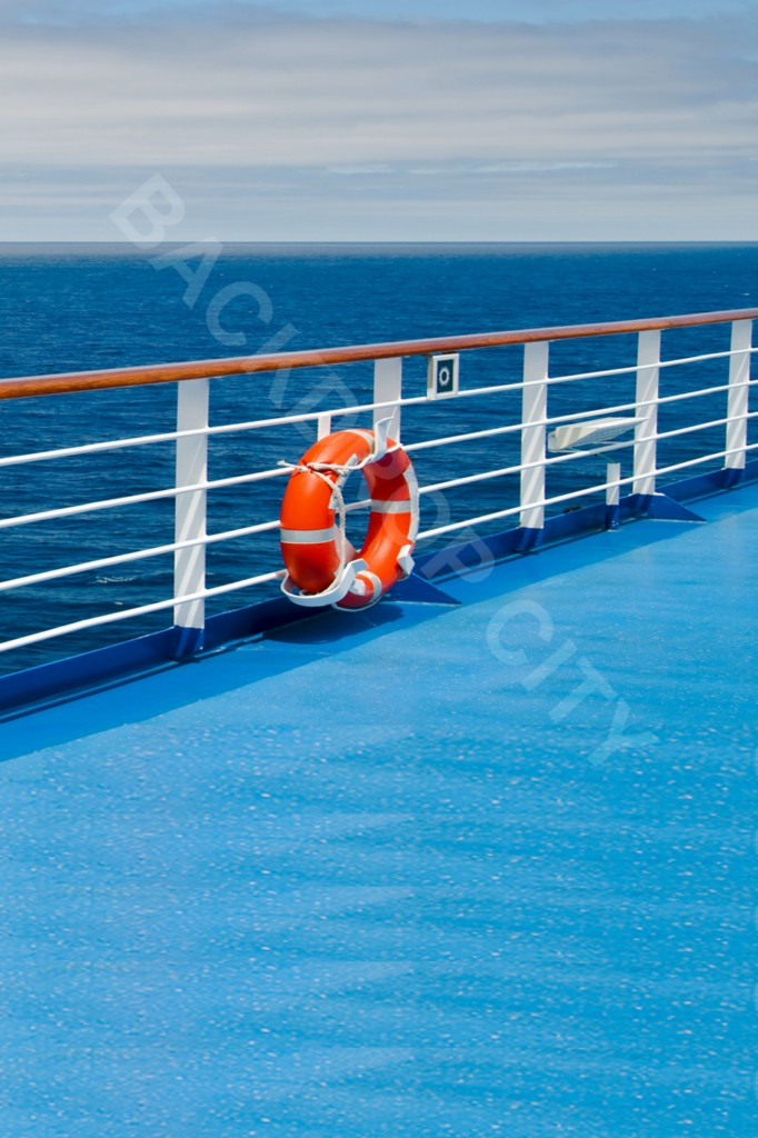 10'x15' Cruise Blue Deck Computer Printed Backdrop