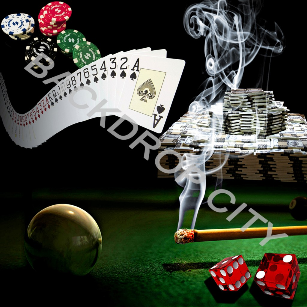 GAMBLER Computer Printed Backdrop and Digital Image