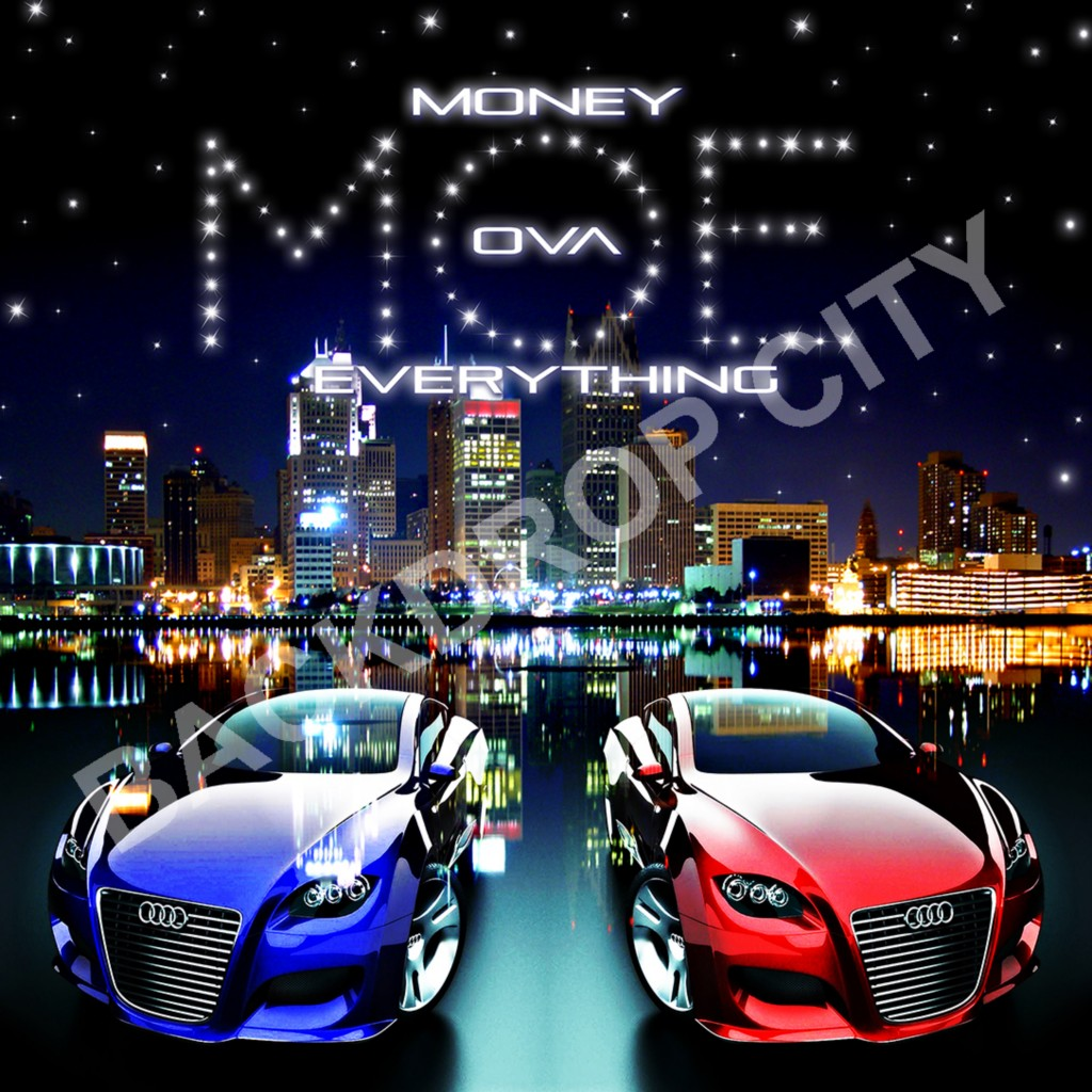 MONEY OVER EVERYTHING2 Computer-Printed Backdrop and Digital Image