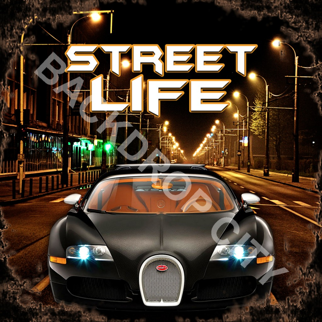 STREET LIFE 1Computer-Printed Backdrop and Digital Image