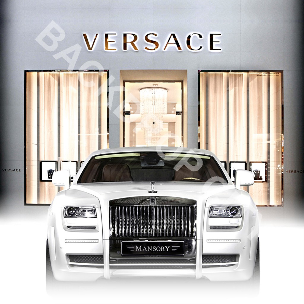 VERSACE & RR Computer-Printed Backdrop and Digital Image