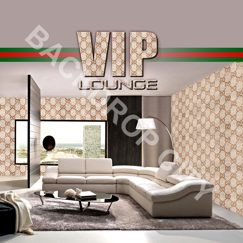 VIP LOUNGE Computer-Printed Backdrop and Digital Image
