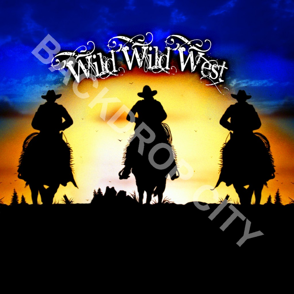 WILD WILD WEST Computer Printed Backdrop and Digital Image