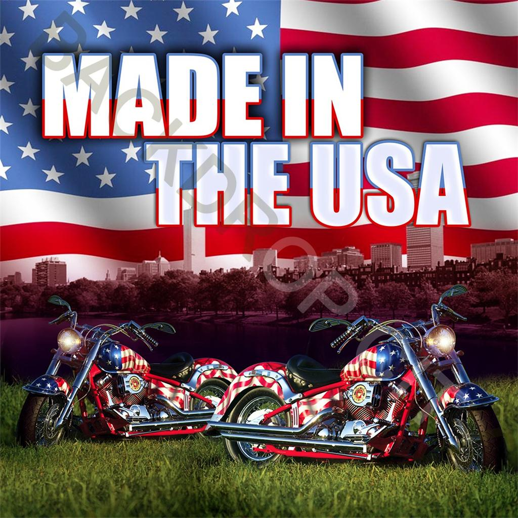 10x10 USA Motorcycles Computer Printed Backdrop