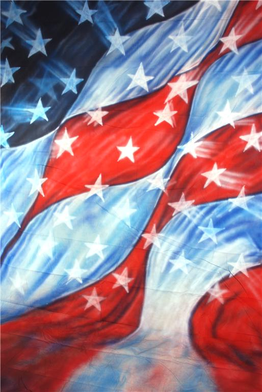 10x20 Freedom Flag Scenic Muslin Backdrop