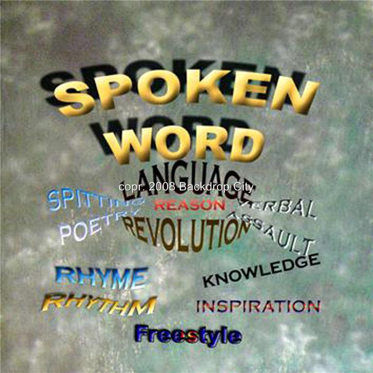 Spoken Word2 Computer-Printed Backdrop
