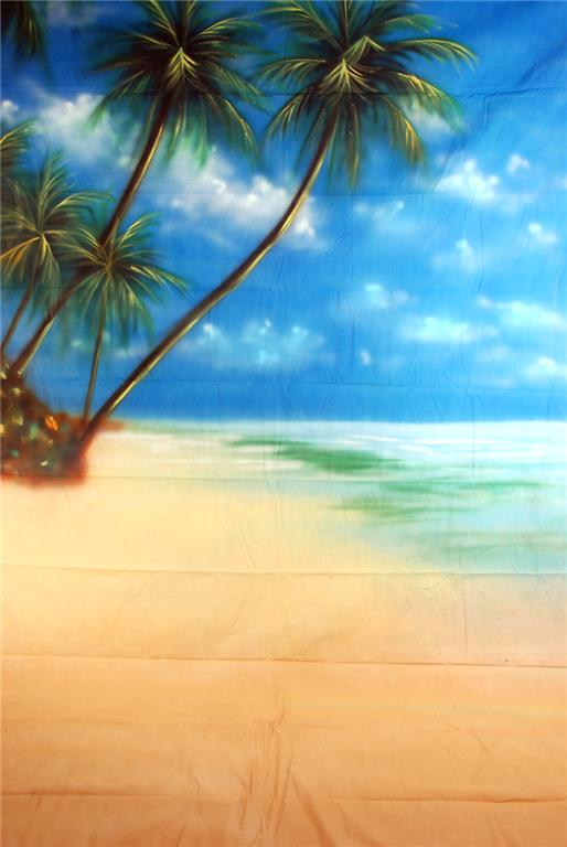 10'x20' Maldive Beach Scenic Muslin Backdrop