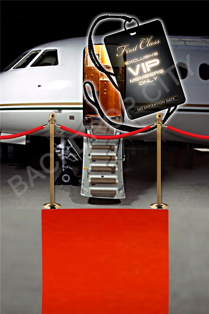 VIP Plane Red Carpet Computer Printed Backdrop