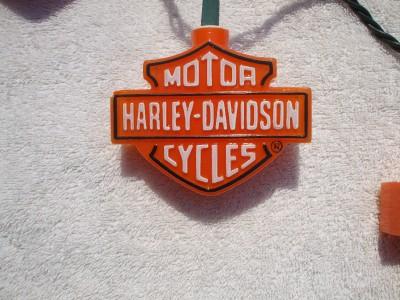 Harley Davidson Man cave, xmas, RV camper, string lights. eBay