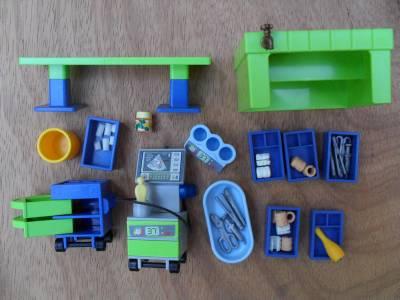 playmobil vet clinic instructions