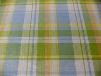 Cotton Drapery Curtain Fabric New Woven Soft Plaid Green Blue Peach Yellow Ebay