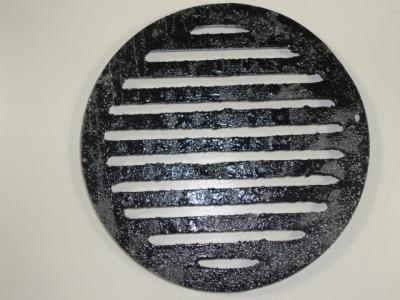 New black round floor drain cast iron cover 5 7 8 ebay for 12 inch floor drain cover