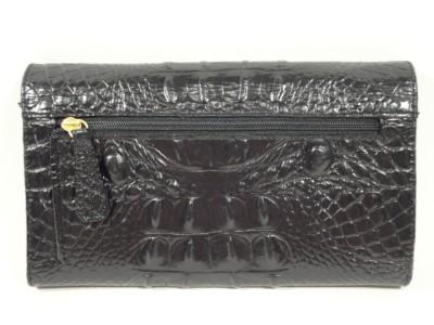 NWOT Brahmin Lexington BLACK Patent Leather Continental Wallet Coin