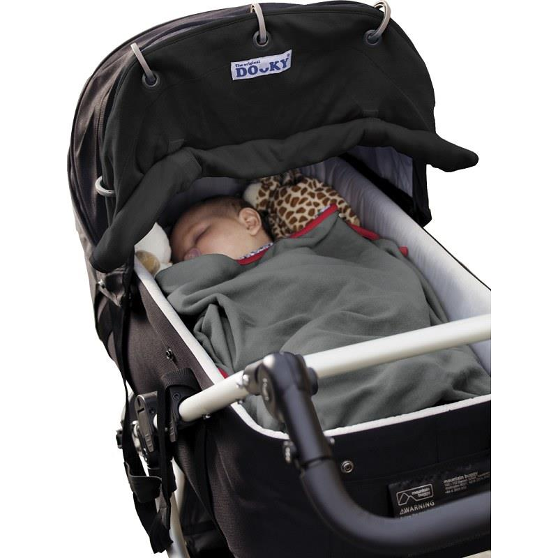 dooky shade baby buggy car seat pram wind noise uv protection roll up sun canopy ebay. Black Bedroom Furniture Sets. Home Design Ideas