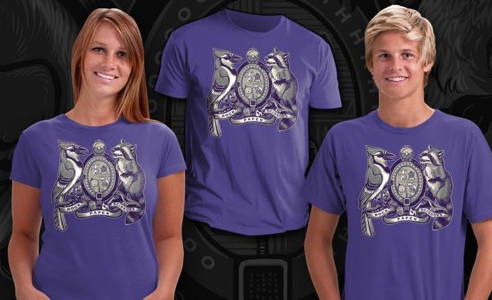 Regular-Show-Cartoon-Mordecai-Rigby-Crest-Logo-Collage-Teefury-Women-Shirt-NEW