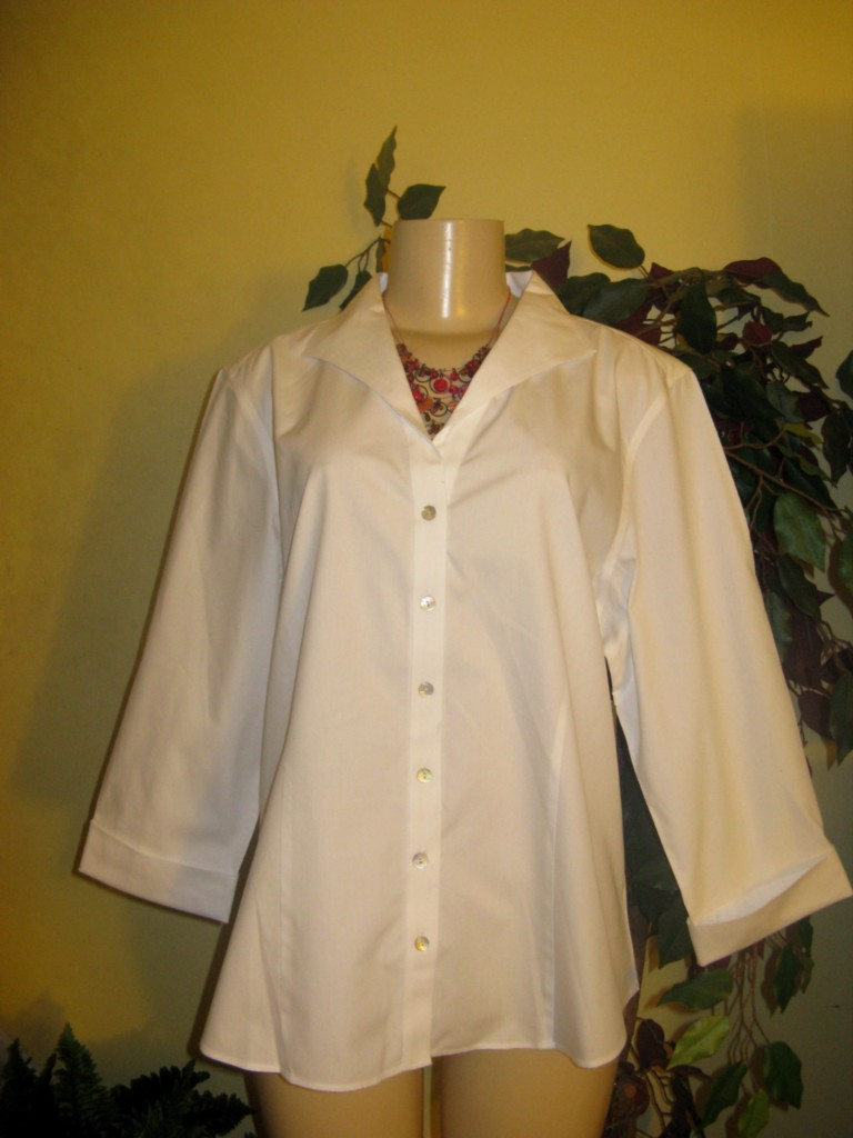 Women'S No Iron White Blouse 34