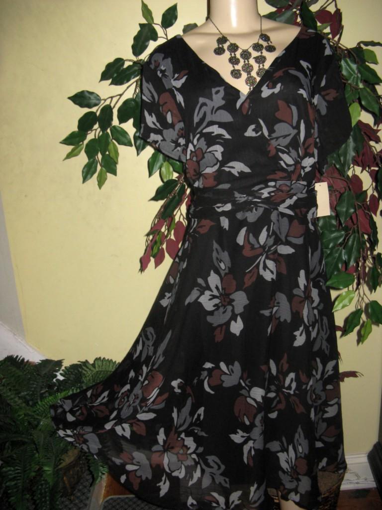 Coldwater creek Women's evening Church Wedding Bride party dress L XL1X 2X3X new