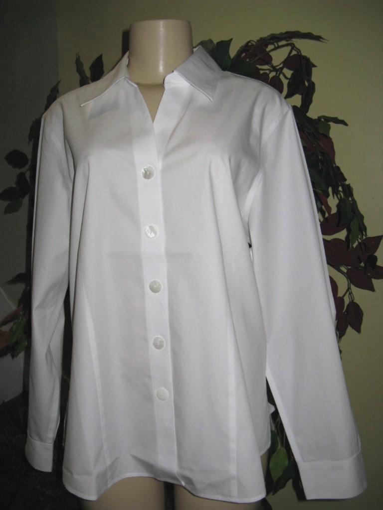 75 coldwater creek white no iron shirt top plus 1x2x3x ebay for Best no iron shirts