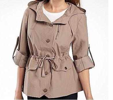 ladies women's fall Spring light Anorak, Hooded jacket ...