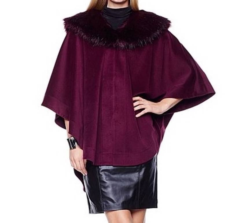 Women-039-s-Winter-Fall-Spring-Faux-fur-Cape-Wrap-poncho-shawl-plus-L-XL-1X-2X-3X-4X