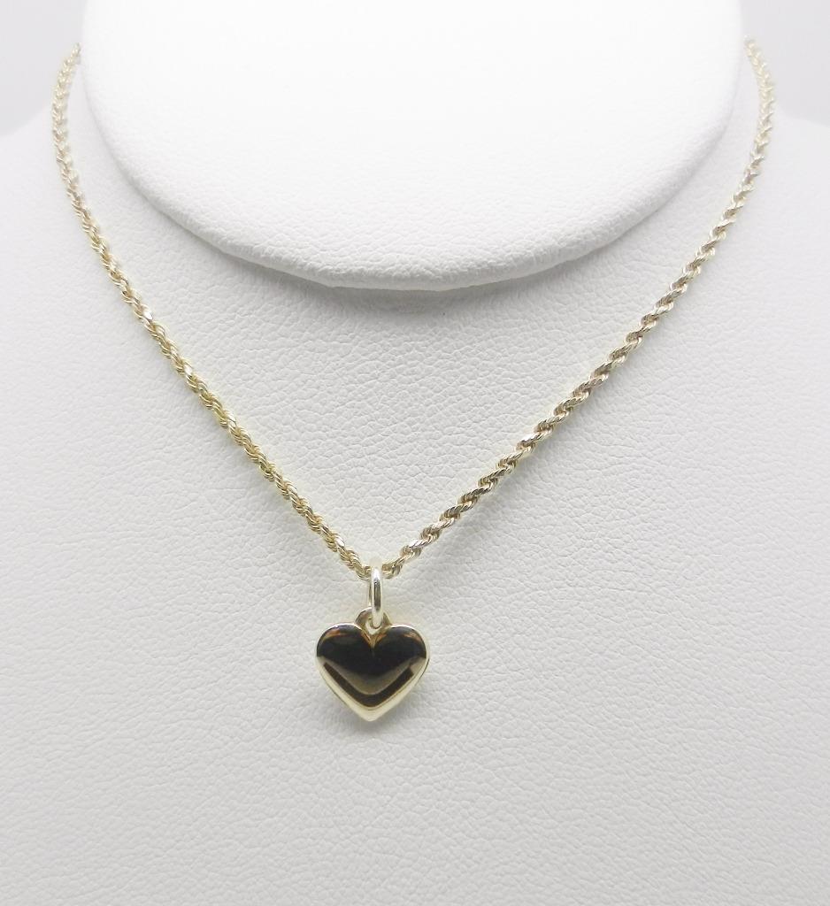james avery 14k yellow gold heart charm pendant lb2485