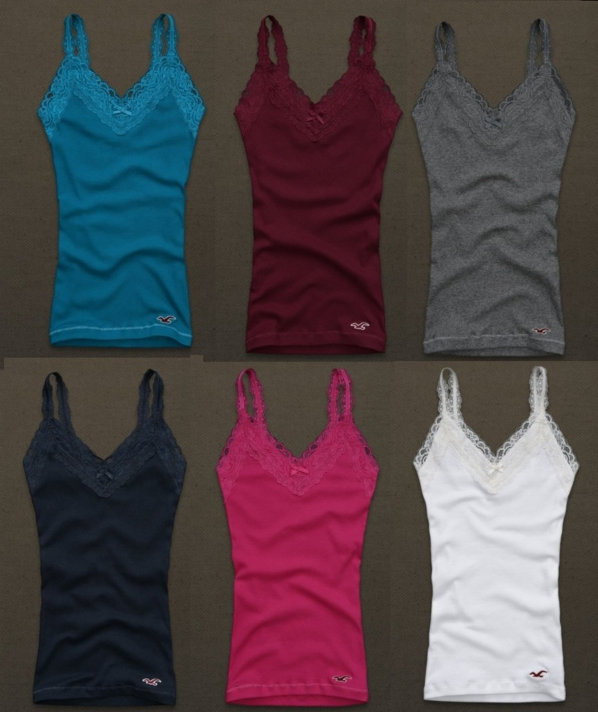 HOLLISTER-NWT-Womens-Fletcher-Cove-Lace-Trim-Tank-Top-S-M-and-L-NEW