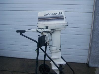 Johnson evinrude 25 hp outboard boat motor long shaft ebay for Long shaft trolling motor for sale
