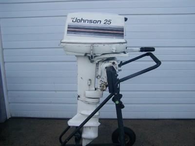 Johnson Evinrude 25 Hp Outboard Boat Motor Long Shaft Ebay