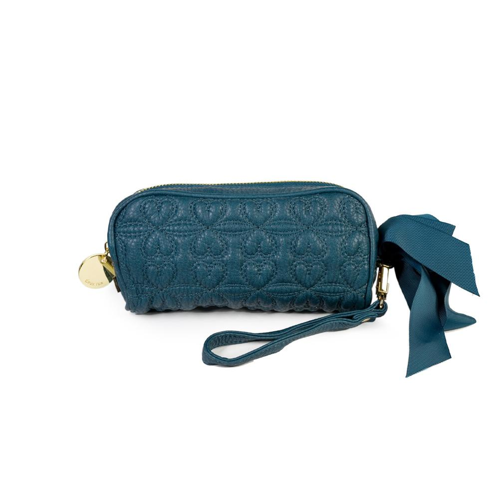 Deux Lux Love Drops Quilted Ribbon Heart Bow Pouch
