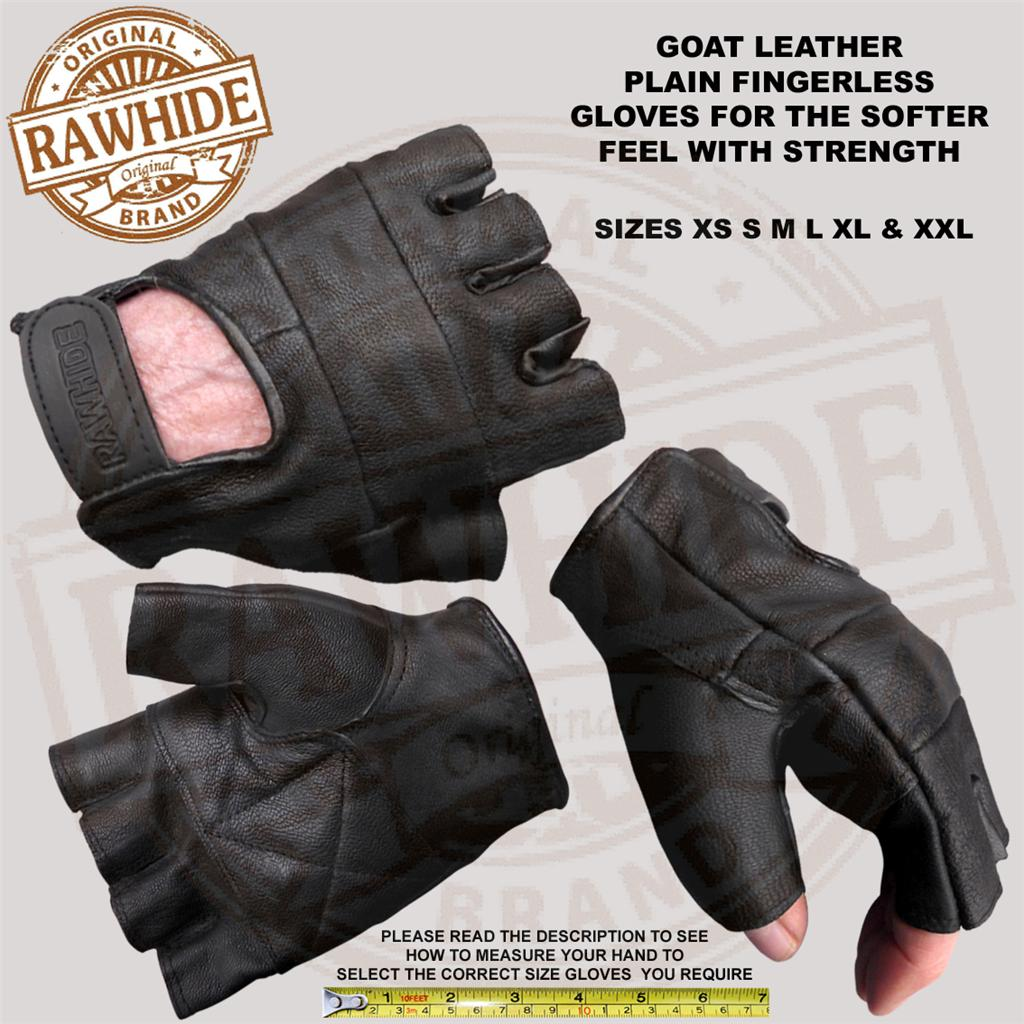 LEATHER-FINGERLESS-GLOVES-WEIGHT-GYM-TRAINING-ACTIVE-SPORTS-WHEELCHAIR-USERS