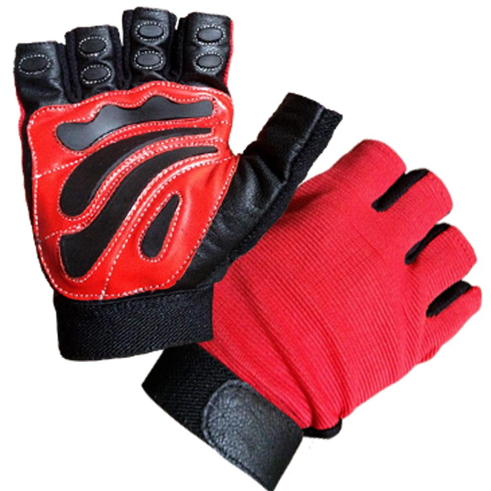 LEATHER-FINGERLESS-GLOVES-BIKERS-GYM-DRIVING-CYCLING-PAINTBALL-amp-WHEELCHAIR-USE