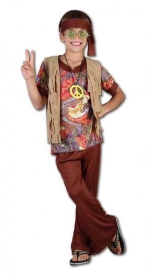 Boys New 60s 70s Rock Hippie Hippy Fancy Dress Up Costume Childs Childrens | eBay
