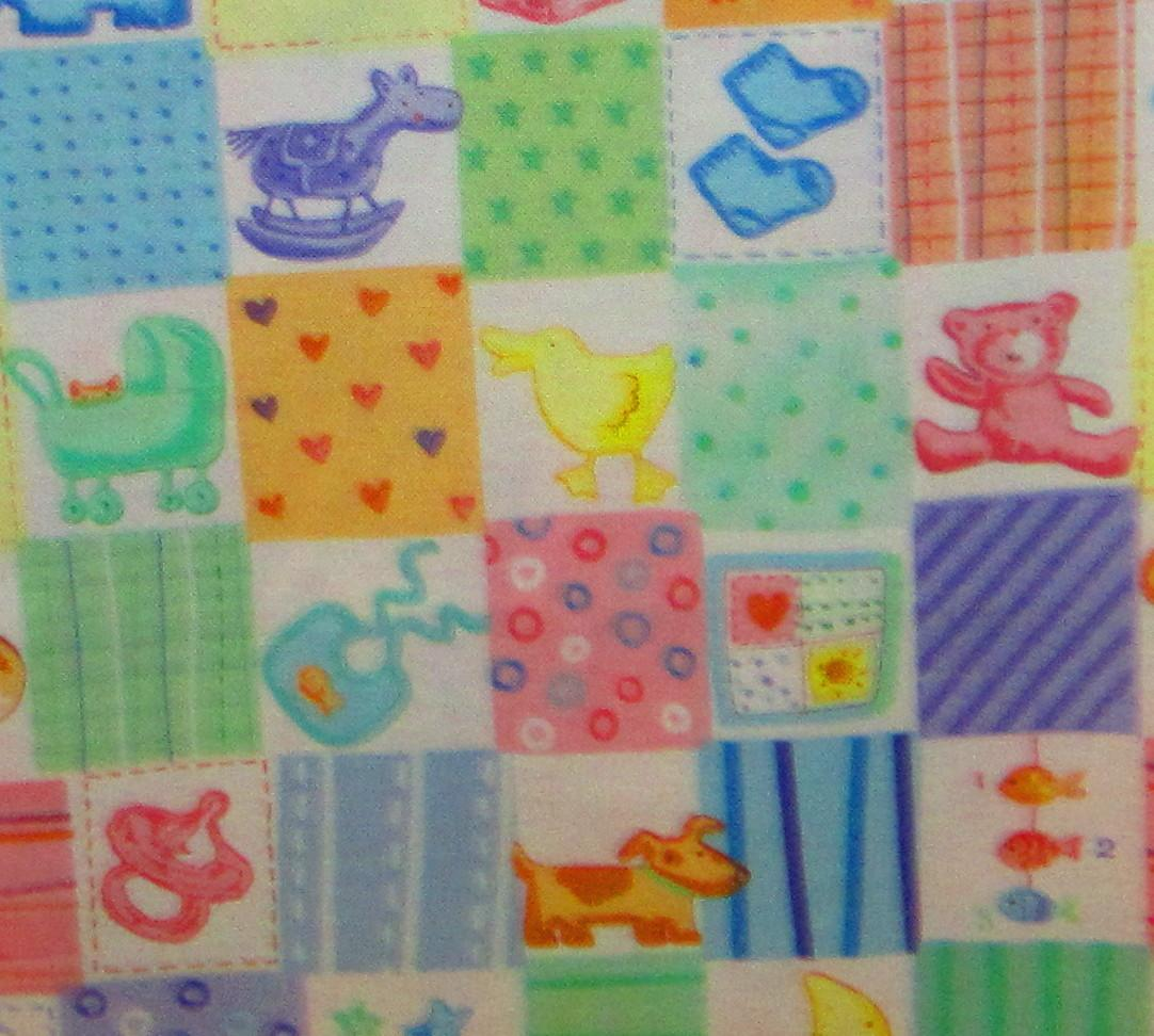 Baby items nursery pastel patchwork free spirit fabric ebay for Nursery fabric