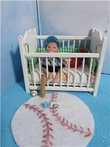 Ooak Mini Baby Boy Art Doll House Polymer Clay Sculpt Poseable Awake