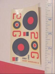 Details about 1/72 RAF SHORT SUNDERLAND III 2 G 00867 Decal