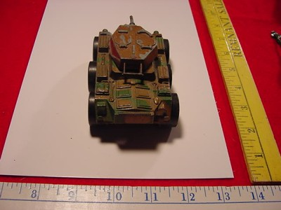 ANTIQUE GERMAN ARNOLD ARMORED CAR TANK MACHINE GUN SOLDIER WIND