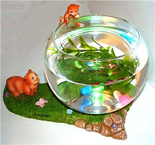 2x decorative betta fish bowl cats tels ebay for Beta fish bowl