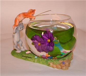 1x decorative betta fish bowl cats tels ebay for Decorative fish bowls