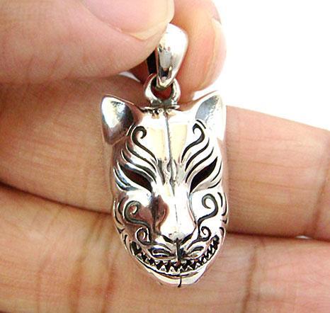 Подвеска кабуки маска лисицы китсуне японская серебро 925