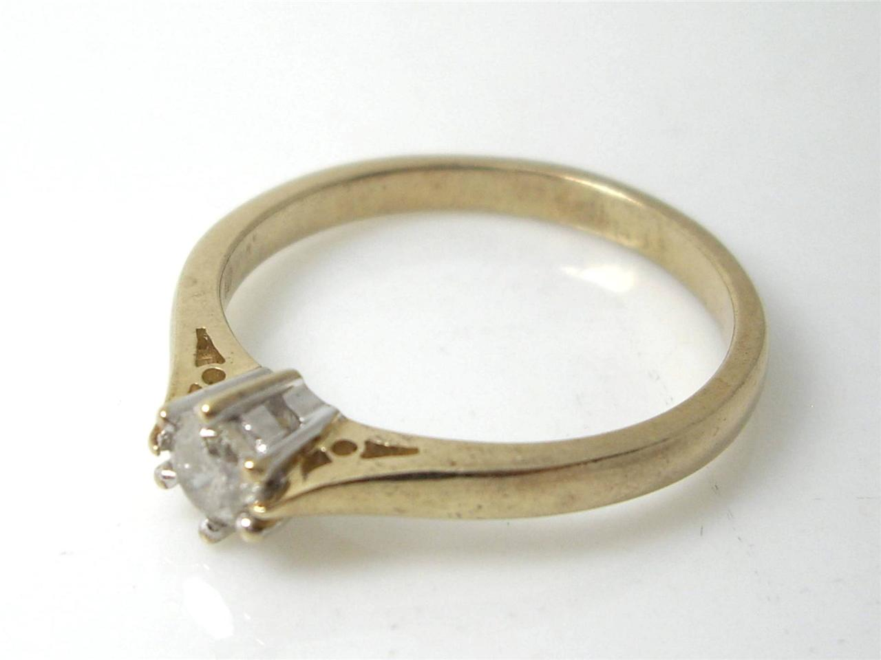 solitaire 25ct 9k yellow gold wedding engagement