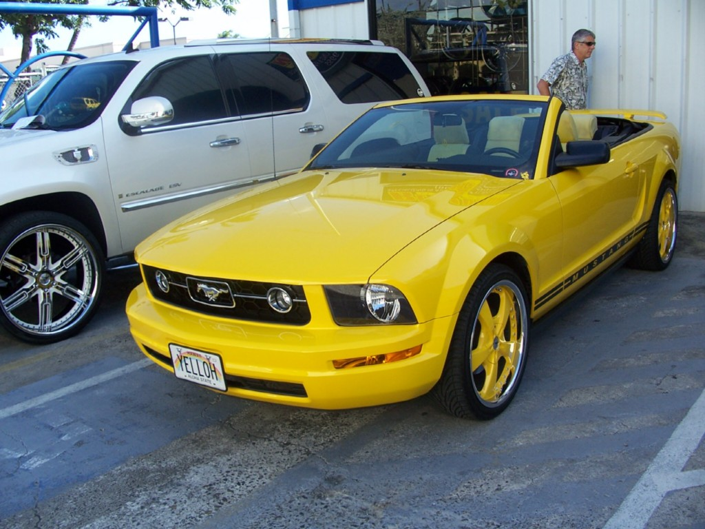 Ford screaming yellow touch up paint