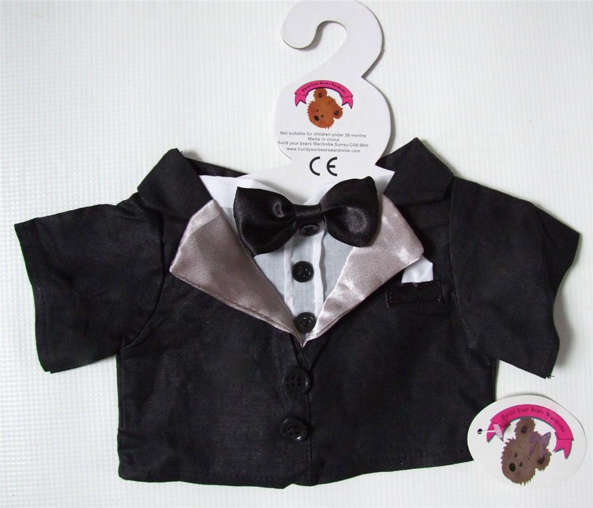 Build-Your-Bears-Wardrobe-Wedding-Groom-Tuxedo-15-16-in-Teddy-Bear-Clothes