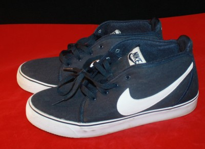 mens nike boat deck shoes sneakers navy blue white classic