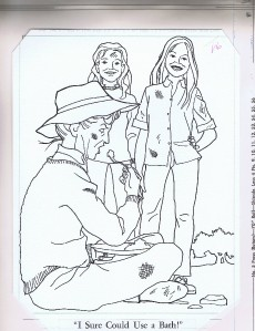 brady bunch coloring book original artwork 1973