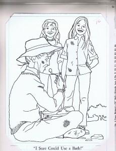 brady bunch coloring book original artwork 1973