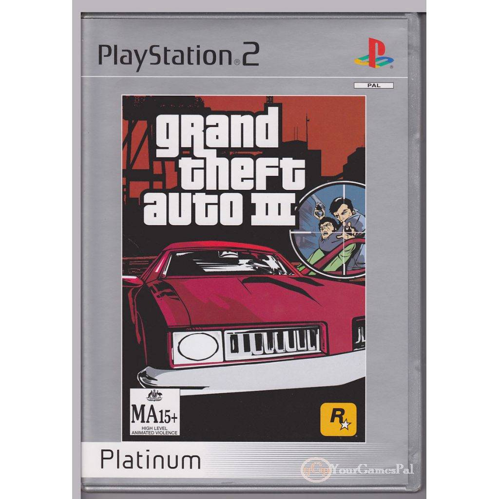 playstation 2 gta3 grand theft auto 3 platinum ps2 pal ln. Black Bedroom Furniture Sets. Home Design Ideas