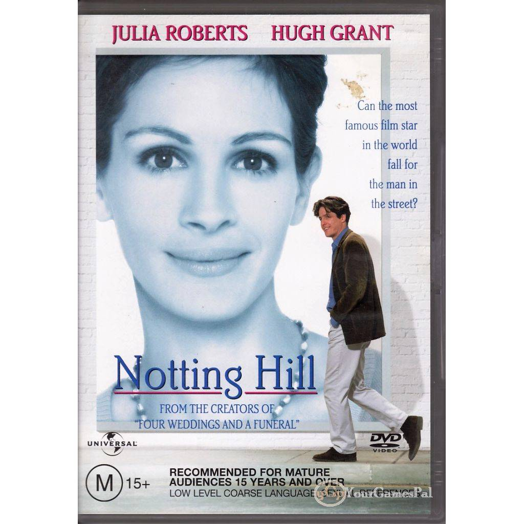 DVD-NOTTING-HILL-Julia-Roberts-Hugh-Grant-1999-COMEDY-ROMANCE-REGIONS-2-amp-4-LN